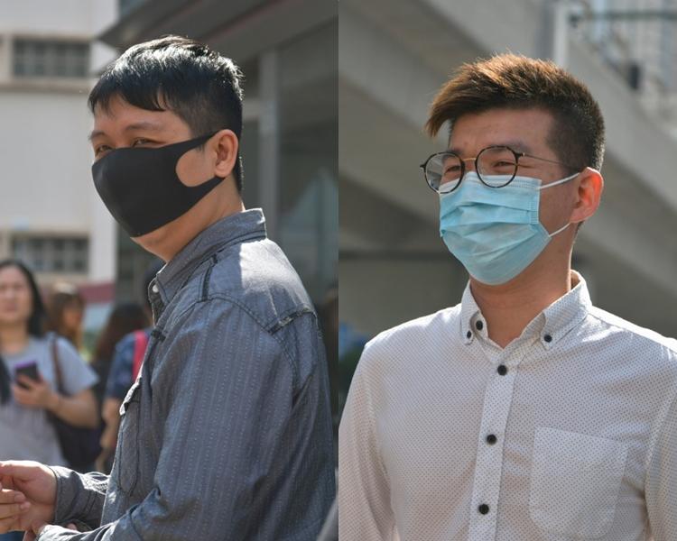 被告林志興(右)及凌承宗(左)。