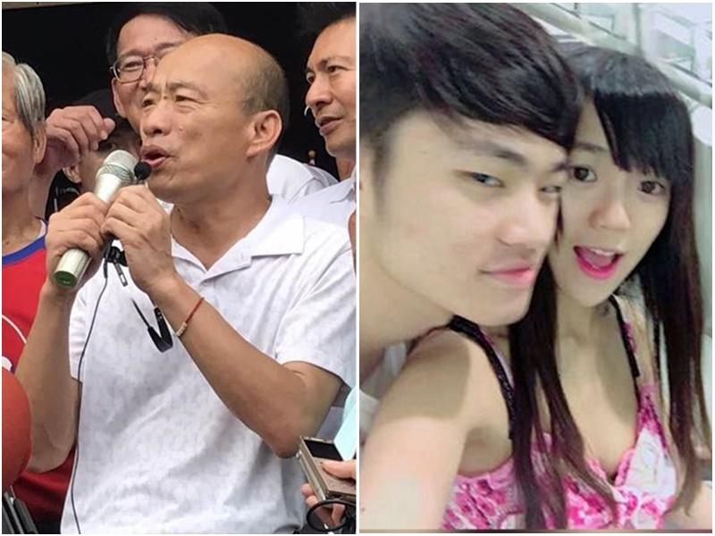 韓國瑜(左圖)質疑台灣政府拒絕接受陳同佳(右圖)。網上圖片