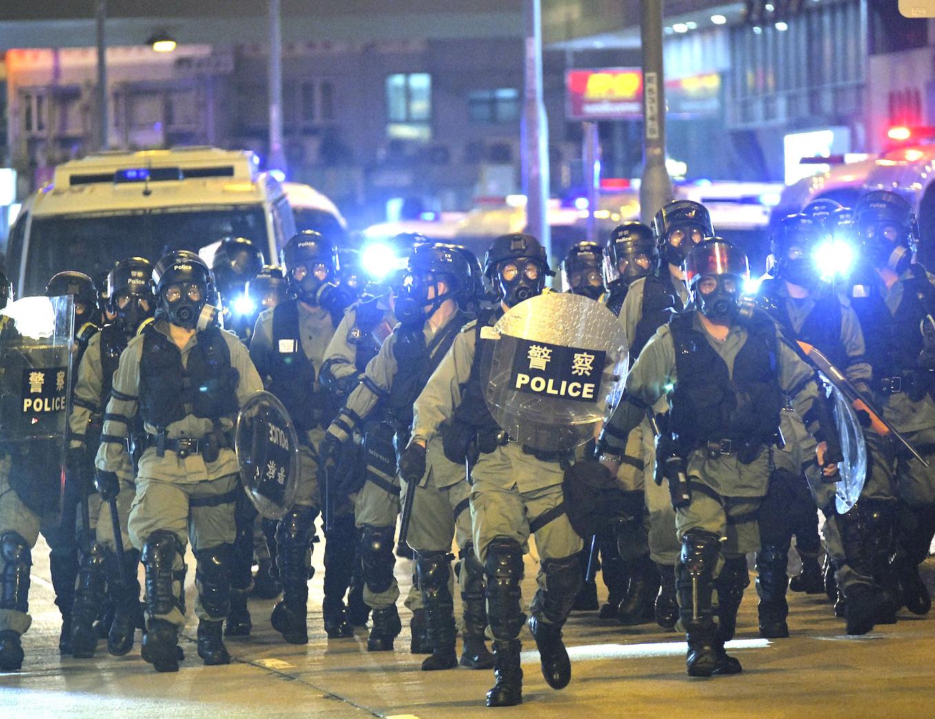 多名警員在反修例風波中遭「起底」。資料圖片