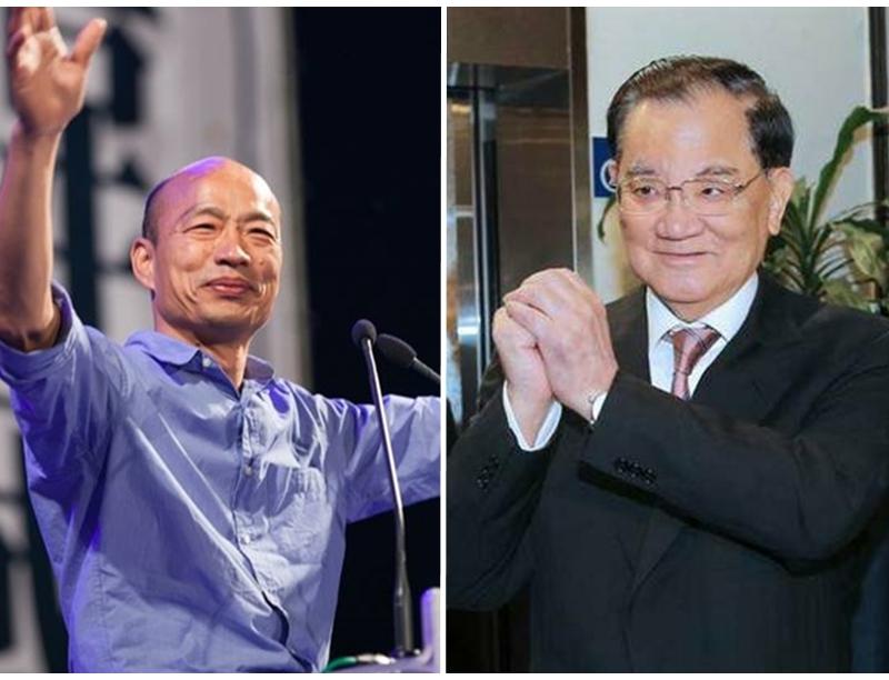 韓國瑜邀請連戰擔任競選總部全國後援總會長,也獲得連戰的同意。 網圖
