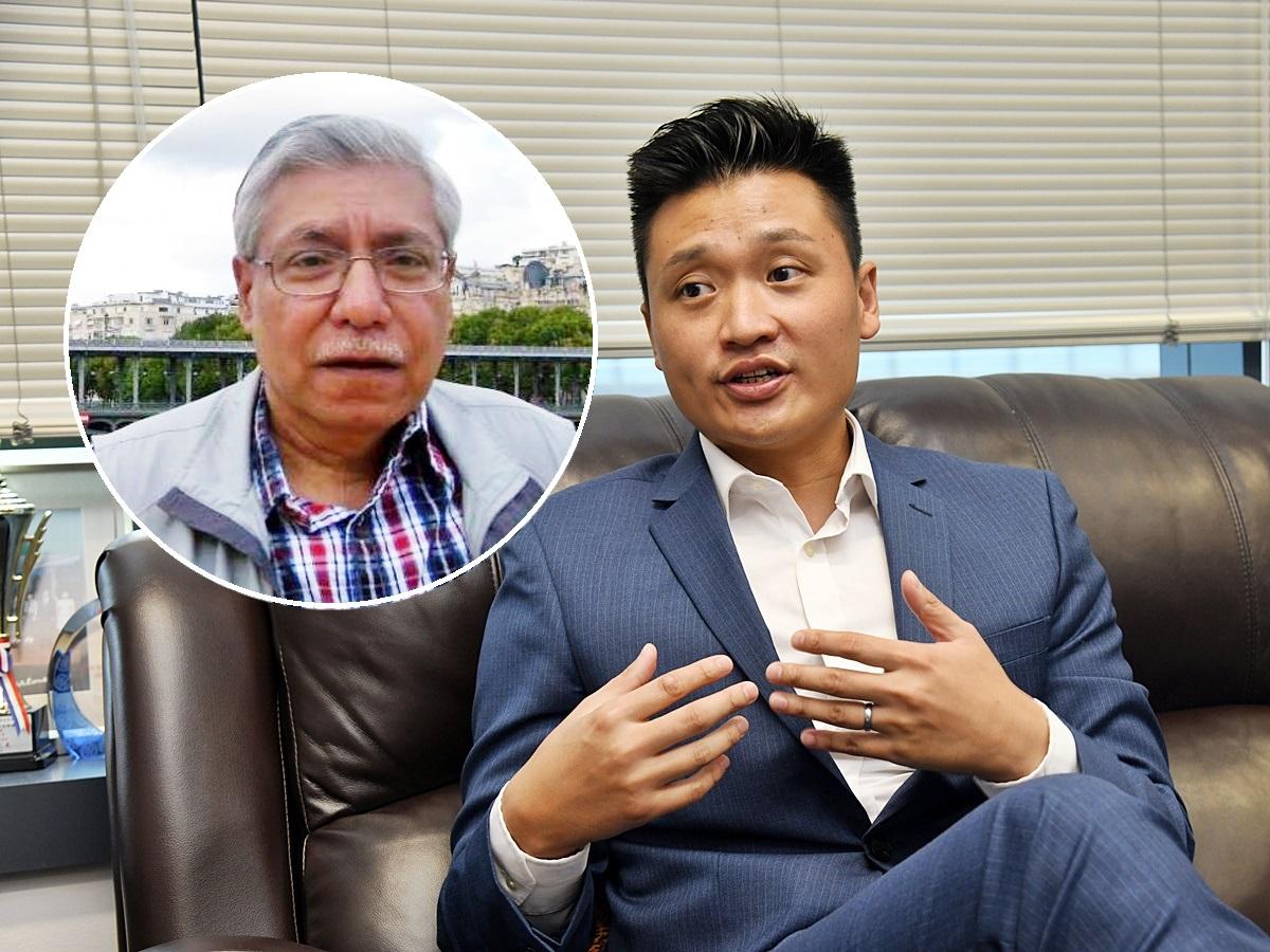 民建聯立法會議員鄭泳舜曾探望毛漢(小圖)。