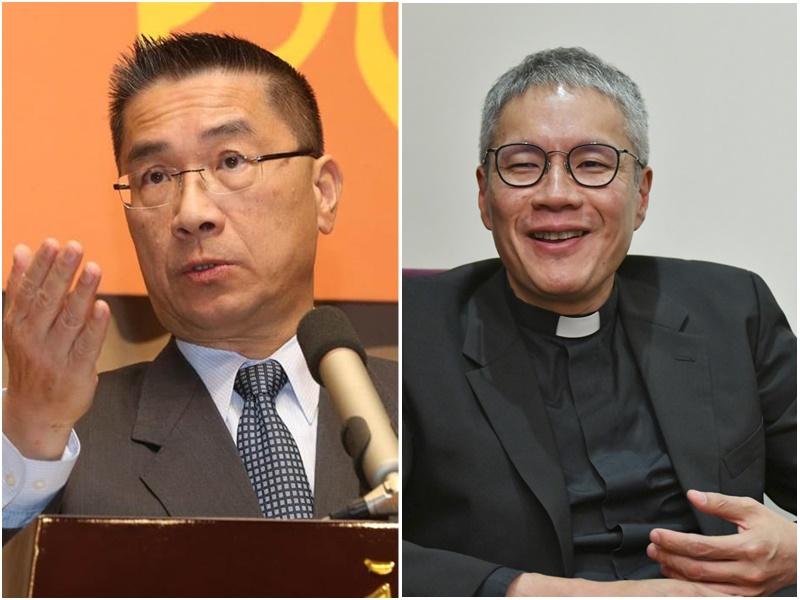 台灣內政部長徐國勇證實曾會見管浩鳴(右)。資料圖片