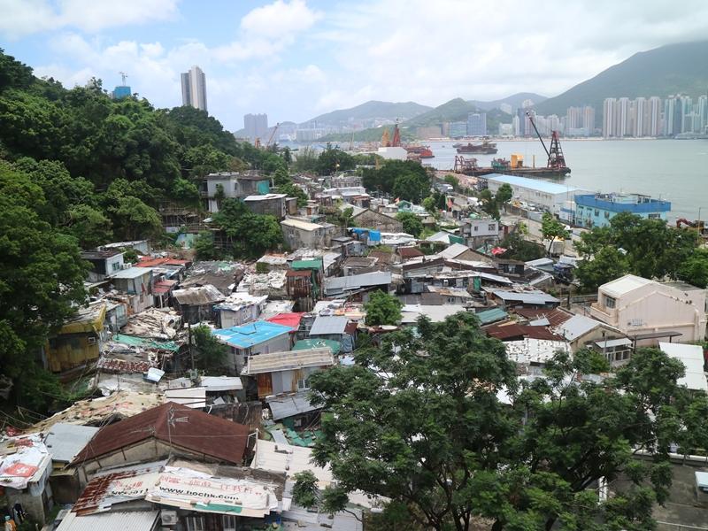 茶果嶺村改建,可成為享有海景的公營房屋用地。