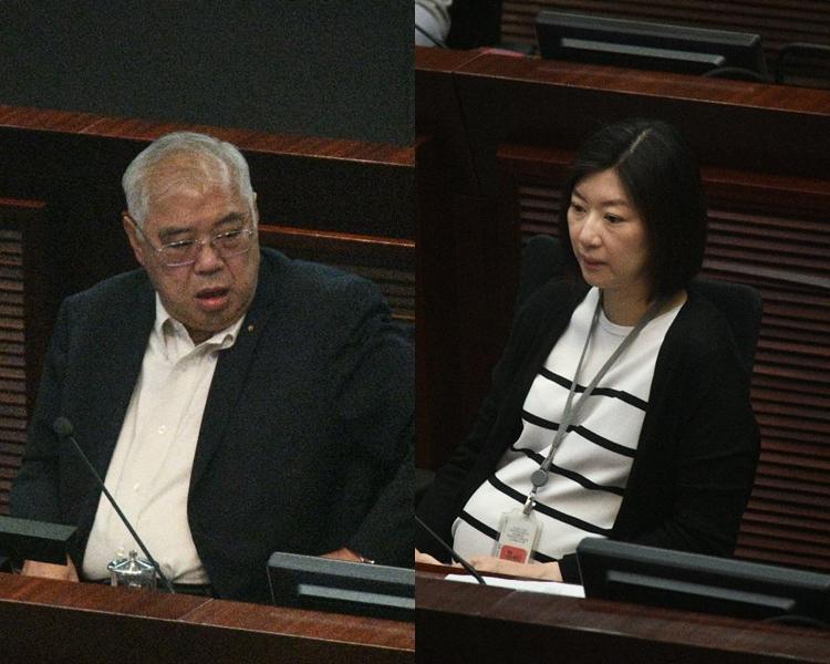 民建聯黃定光(左)和新民黨容海恩(右),先後當選為主席和副主席。