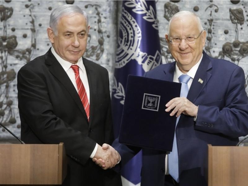 內塔尼亞胡(左)已知會里夫林(右)籌組以色列內閣失敗。AP資料圖片