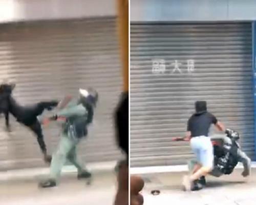 【修例風波】警員被飛腳踢倒地 紮鐵工涉圖搶劫襲警還柙看管