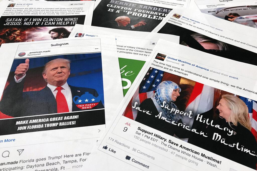 facebook及旗下Instagram揭發一個來自俄羅斯及3個來自伊朗、懷疑企圖干預美國明年大選。AP