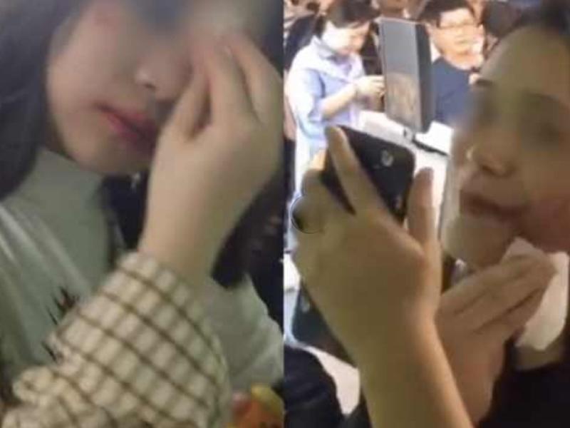 廣州漢溪長隆地鐵站安檢時要求多名乘客卸妝,理由是妝容太驚悚。(網圖)