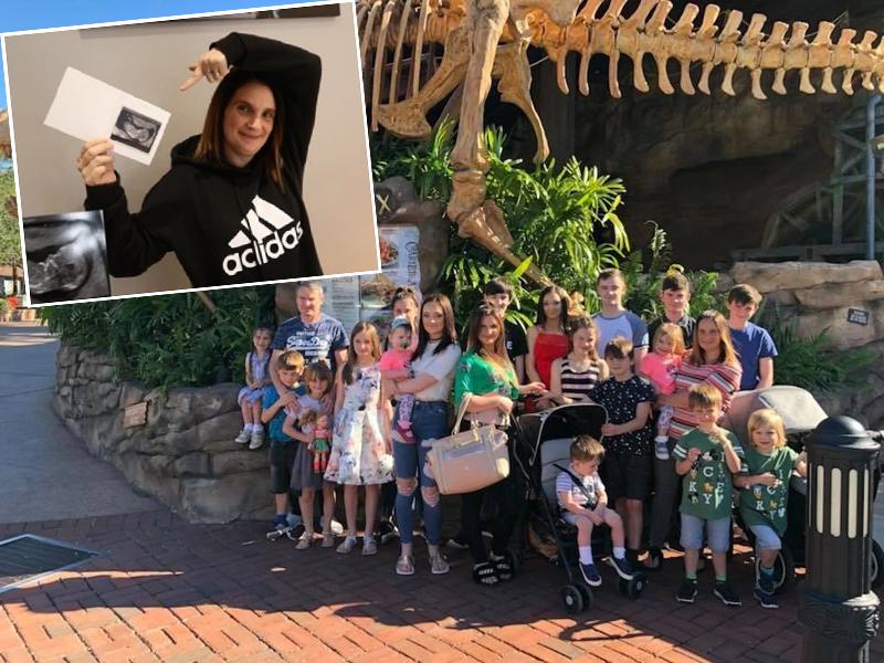 已育有21名子女的拉德福德透過YouTube分享超聲波相片,宣布再度有喜。(網圖)