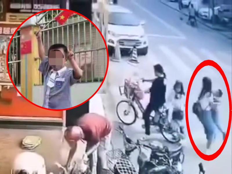 4歲男童街頭突然被抱走,警方指是夫妻爭奪撫養權。(網圖)