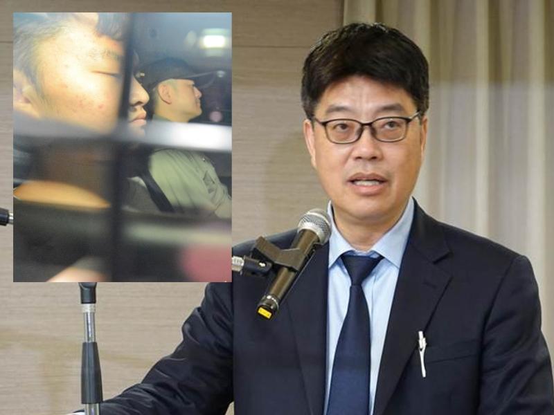 陸委會副主委邱垂正(右)要求港府協助押解陳同佳。網上圖片/資料圖片