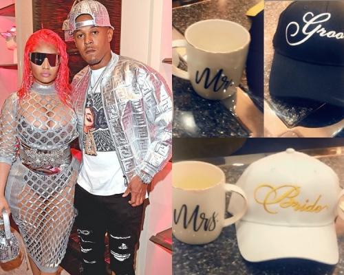 晒情侶咖啡杯和cap帽  Nicki Minaj宣布已婚