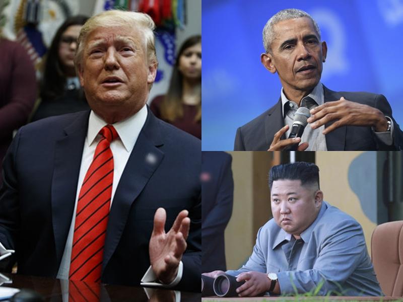 特朗普稱,奧巴馬曾打了11次電話給金正恩,但是都失敗了。 AP