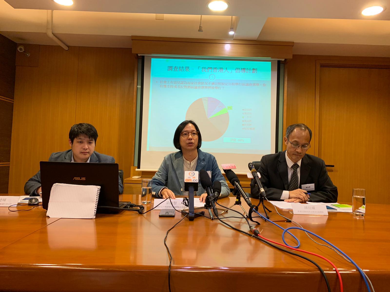 香港民意研究所公布調查結果