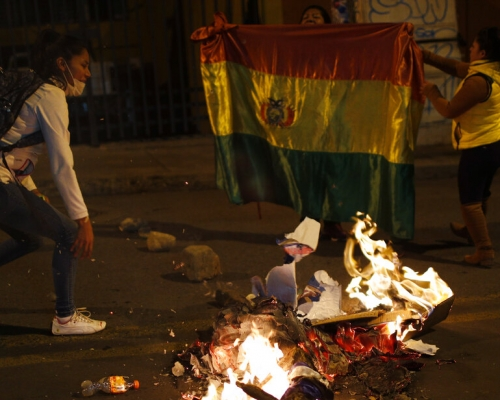 玻利維亞總統大選計票逆轉 引發民眾上街抗議