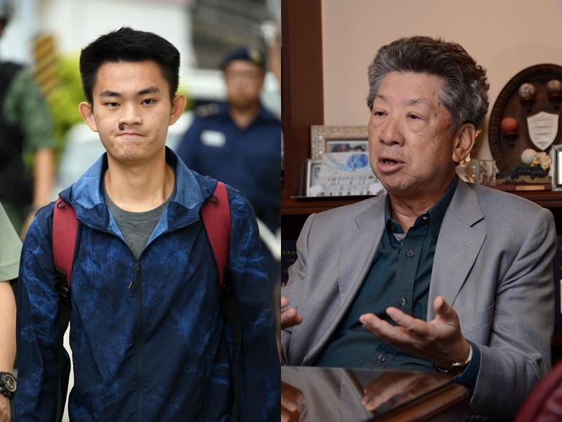 湯家驊(右)指台灣可到機場轉機層會和陳同佳(左)。