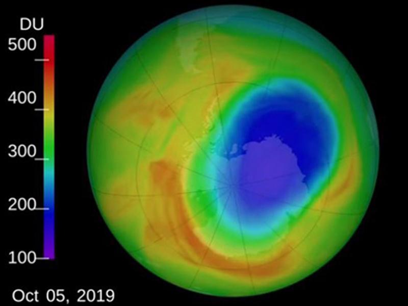 据报,南极臭氧层缺口缩至有纪录来最小。(网图)