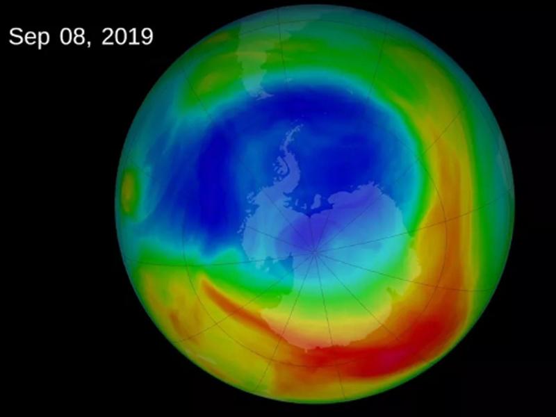 根据卫星监测,今年九月初破洞的面积达到本年高峰。(网图)