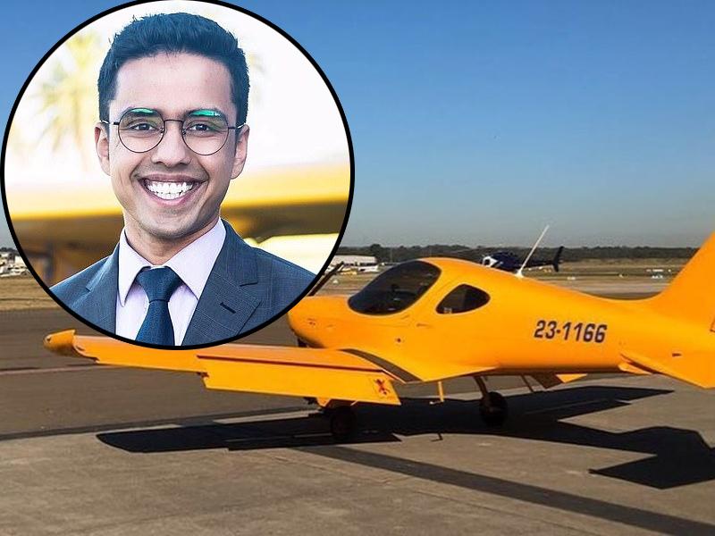 印度男子霍卡尼22歲時被飛行學校炒魷,用2.6萬自已開一間飛行學校,8年後坐擁逾3億,躋身富豪榜。(網圖)