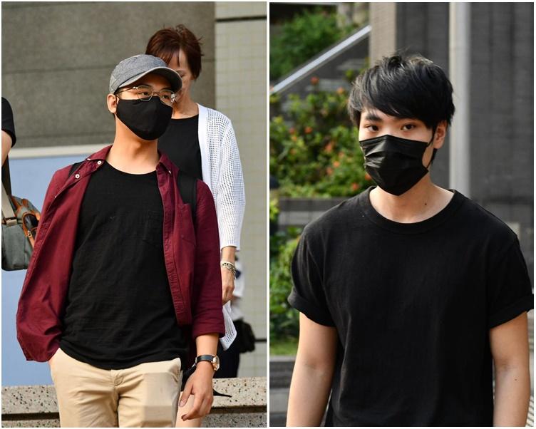 被告譚煒誠(左)、莊嘉灝(右)。
