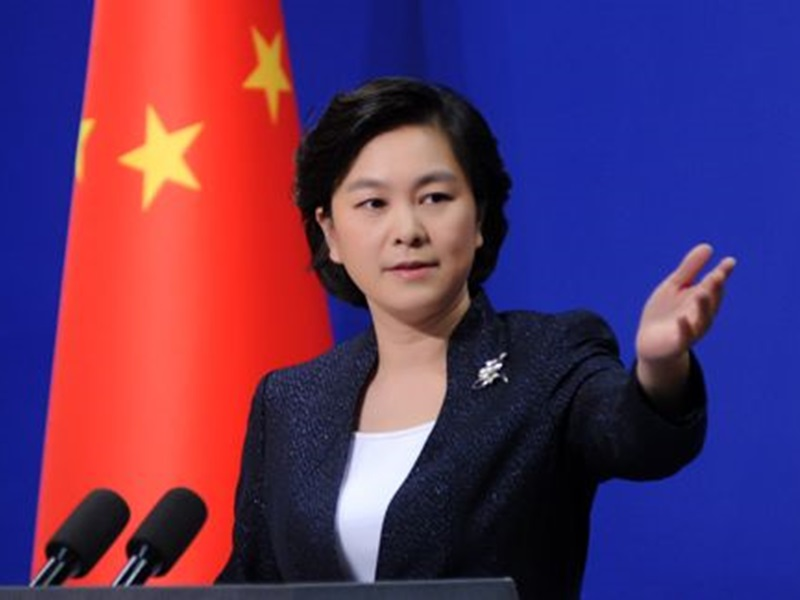 外交部發言人華春瑩。網圖