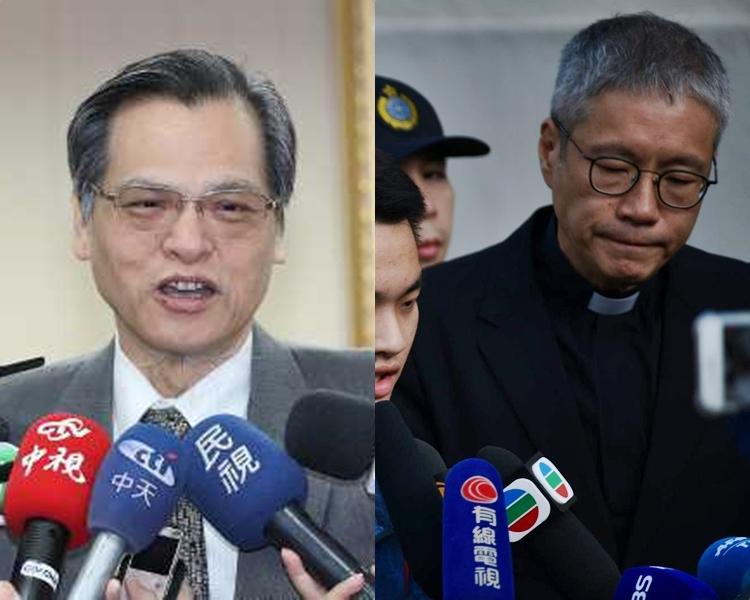 陳明通(左);管浩鳴(右)。 資料圖片
