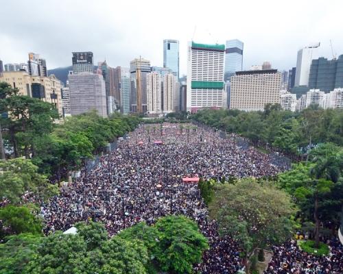 民間發起下周六維園萬人集會。資料圖片