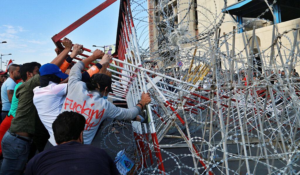伊拉克本月初发生大规模反政府示威及演变成流血冲突。