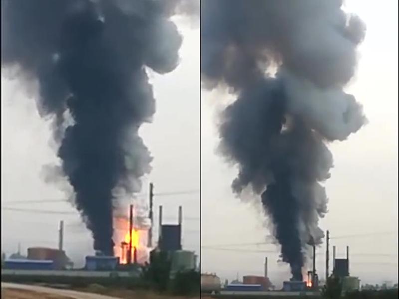 河南新鄉南雲門村一化工廠發生爆炸。(網圖)
