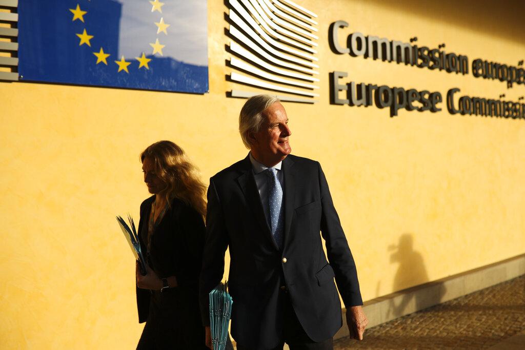 歐盟成員國在比利時布魯塞爾開會。AP