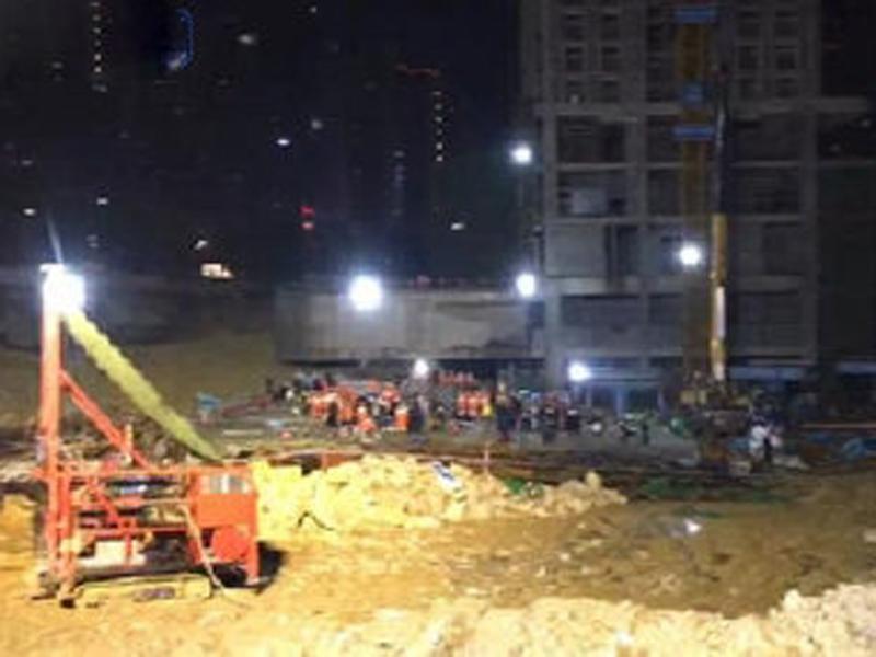 貴州貴陽在建停車場垮塌事故,已致8人死亡2人受傷。(網圖)