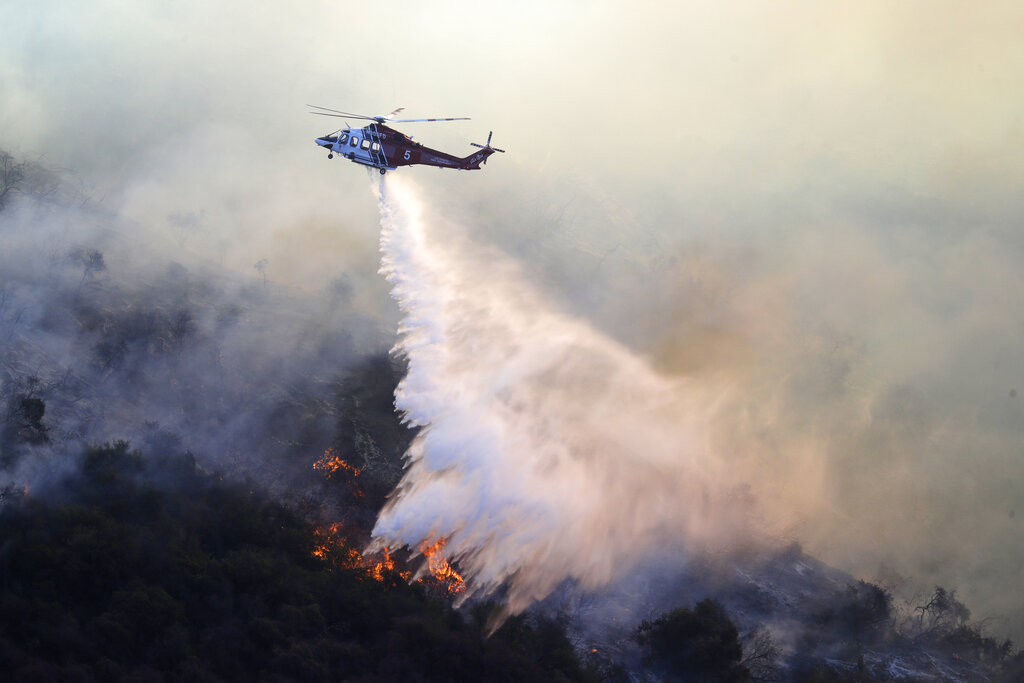 加州山火。