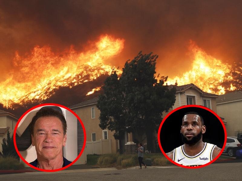 勒邦占士阿诺舒华辛力加因山火要疏散。