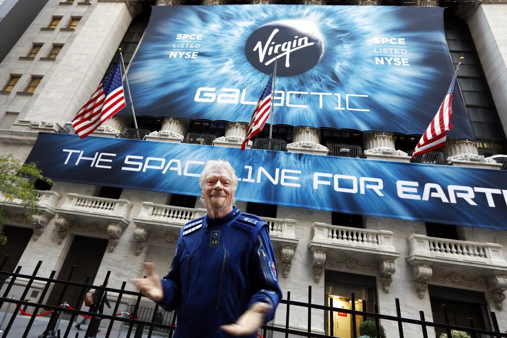 維珍銀河公司創辦人布蘭森。AP