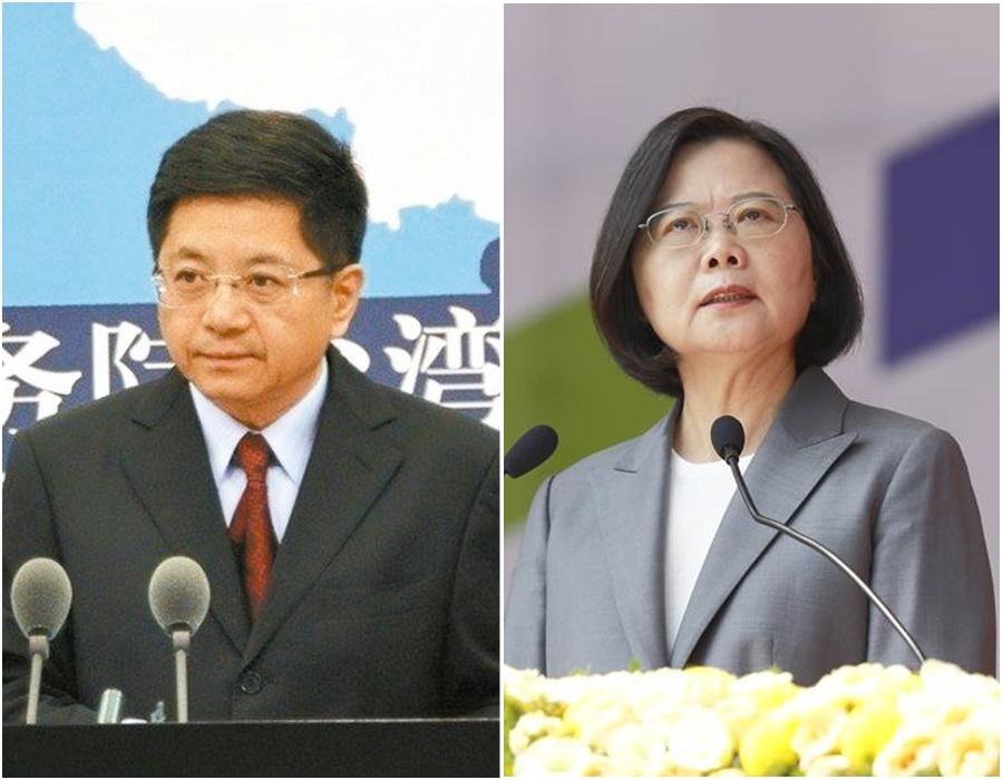 蔡英文(右)傳出席五月天演唱會,馬曉光未正面回應封殺問題。