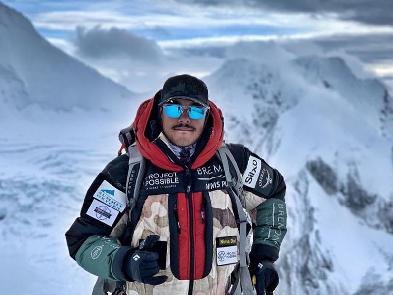 尼泊尔攀山家普贾刷新了成功登上世界14座最高峰峰顶的时间。 Nirmal Purja FB