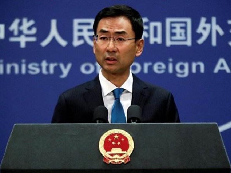 外交部發言人耿爽表示「堅決反對」,指印方這一做法是非法、無效的。 網圖