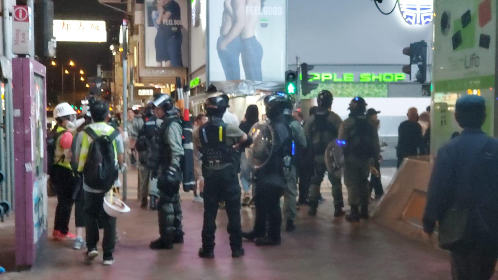 旺角爆發激烈衝突