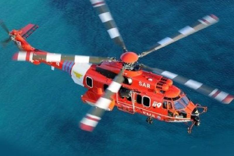 南韓救援直升機墮海7人下落不明。(網圖)
