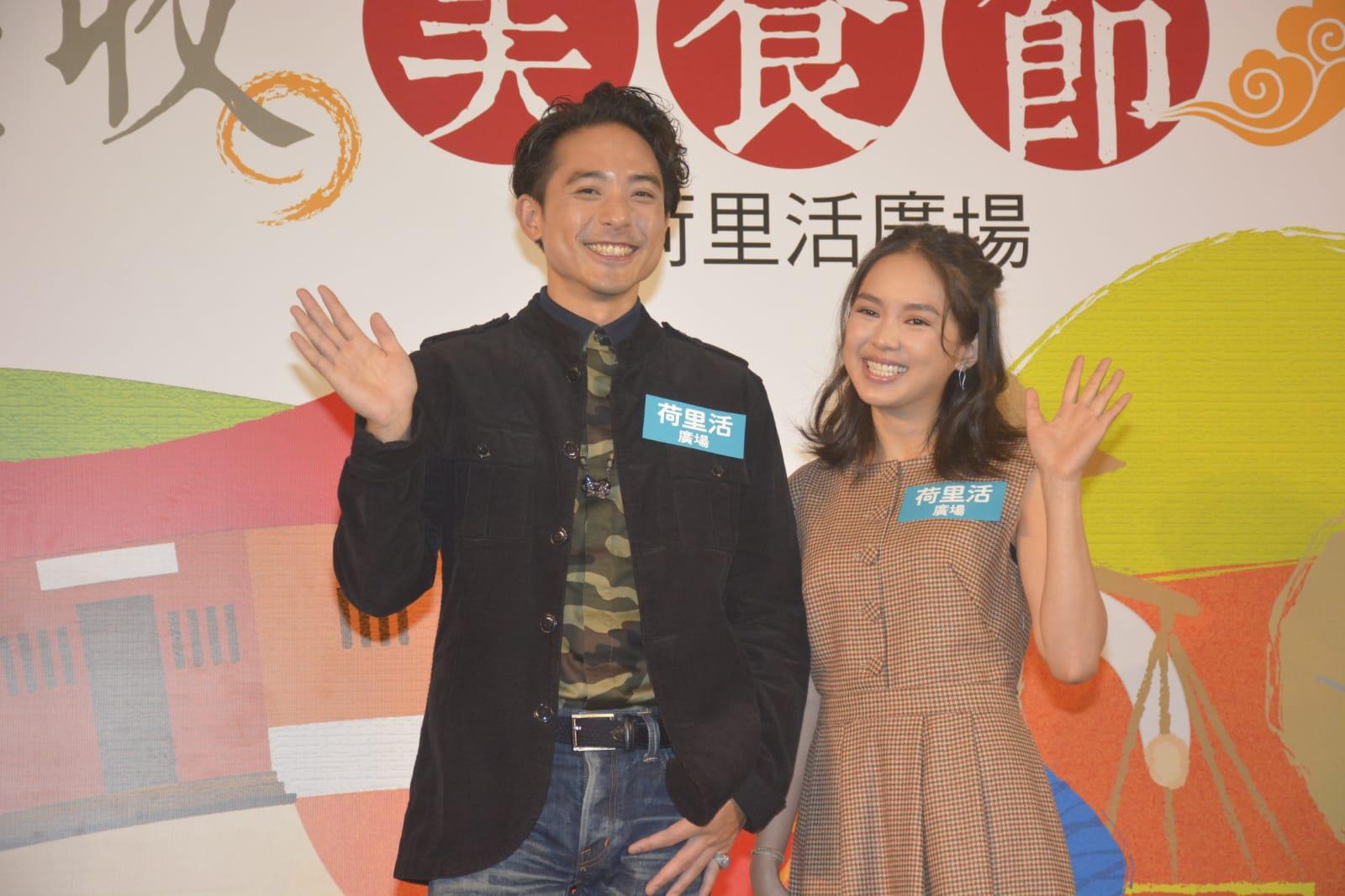 林德信和蘇麗珊出席台灣美食節活動。