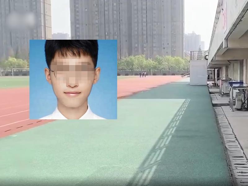 徐州醫科大學一名19歲男同學參加體適能測驗時不幸喪命。影片截圖