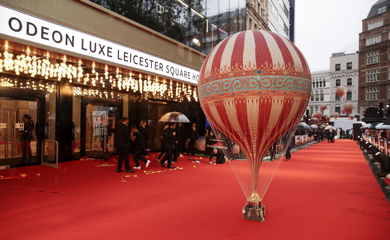 配合電影,大會安排了靚靚熱氣球道具。