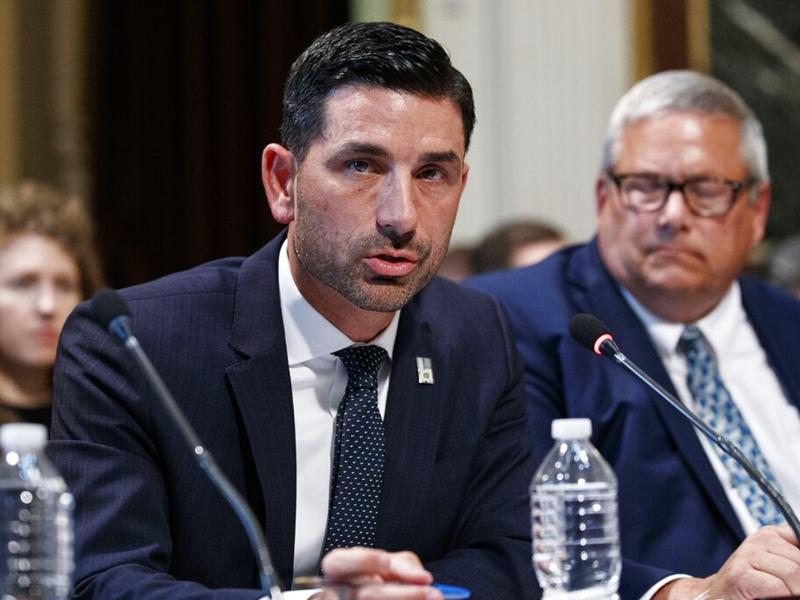 特朗普宣布委任沃爾夫為署理國土安全部部長。 AP