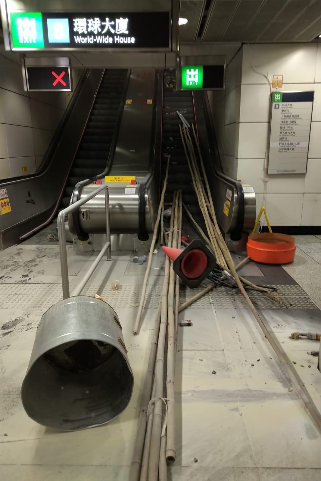 中環站 B 出入口。港鐵提供