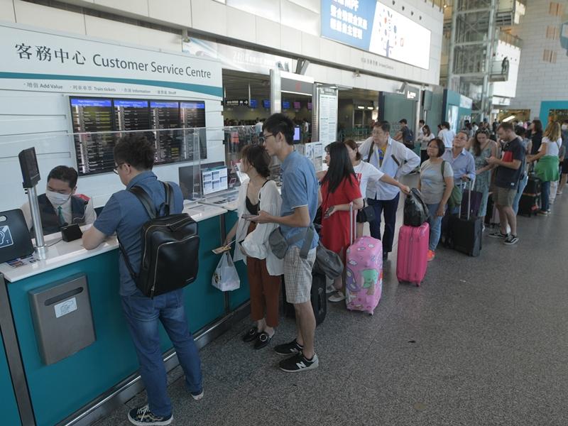 香港站的市區預辦登機服務的截止時間,將維持在飛機起飛前90分鐘。資料圖片
