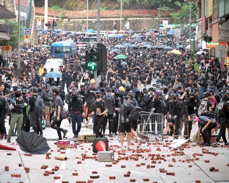 因反修例而爆發的示威已持續數月。資料圖片