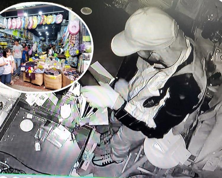 閉路電視拍攝到賊人的搜掠過程。