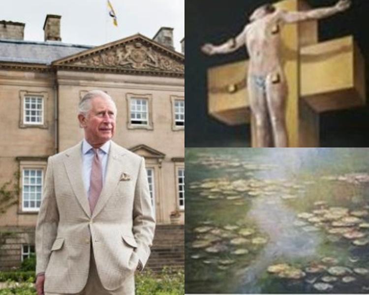 查理斯捲入一宗「A貨」藝術品醜聞。網圖