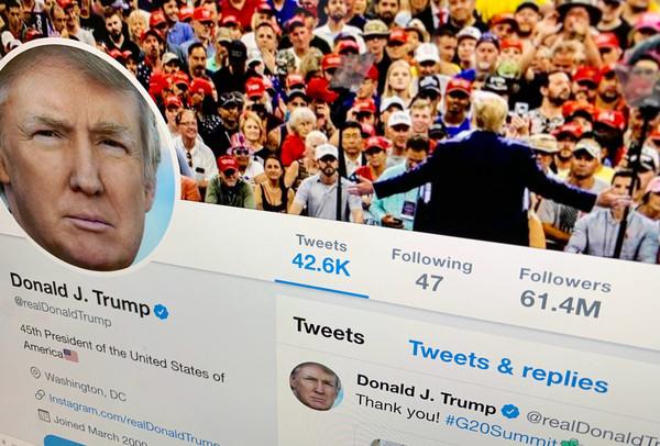 《紐約時報》發佈關於特朗普使用Twitter的分析結果。 AP
