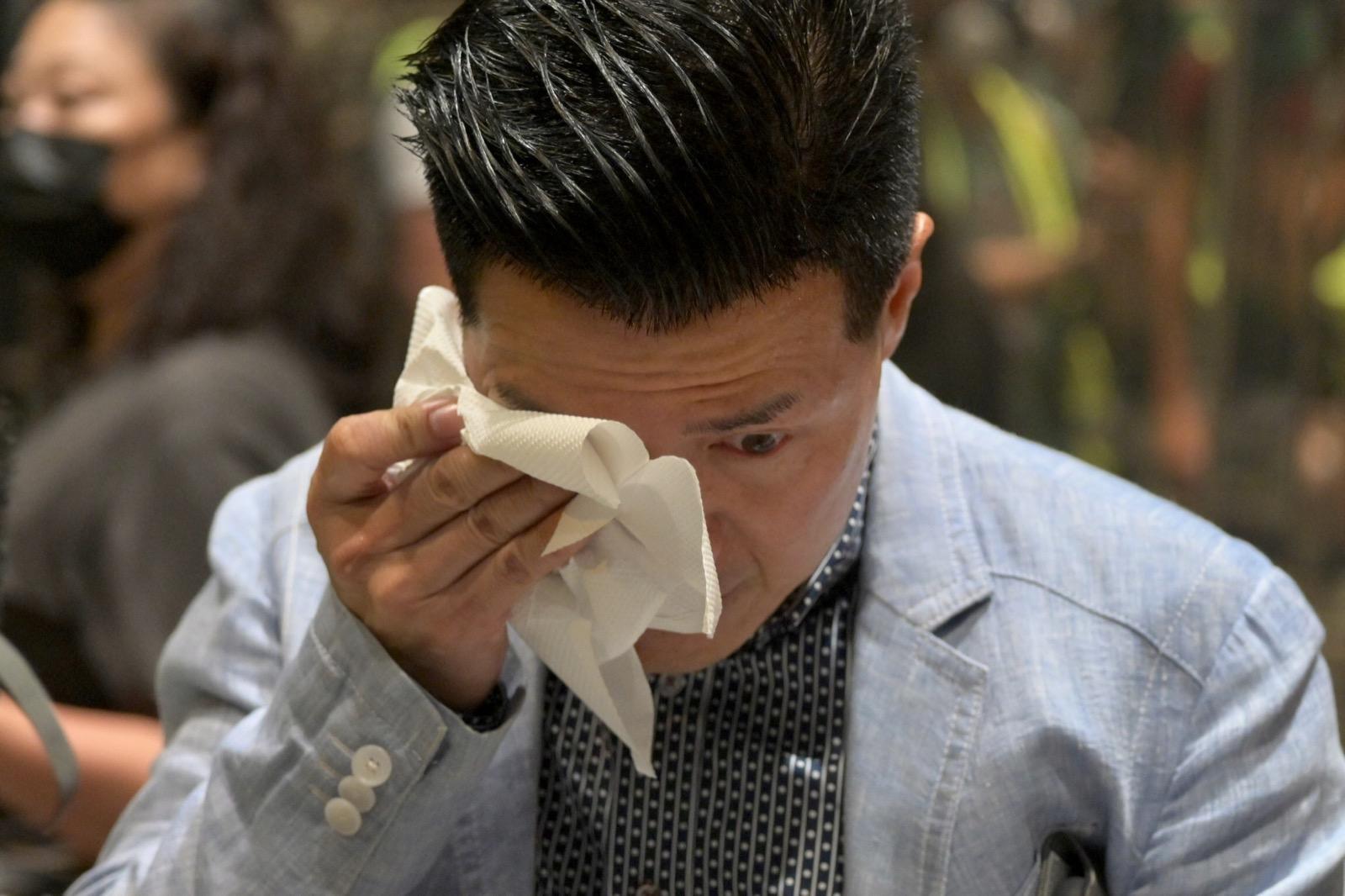 民主派到太古城講述傷人案情況